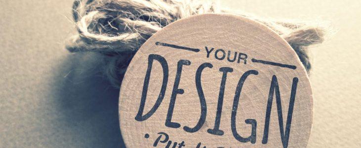 Photo d'un morceau de bois en forme de rond artistique your design put it here.
