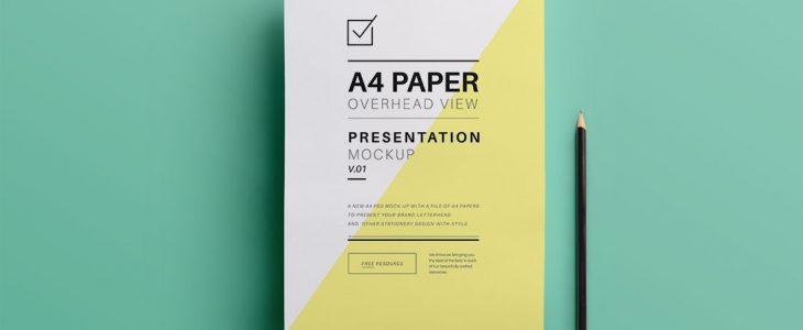 Photo de feuilles de papier et d'un crayon.