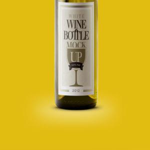 Photo d'une bouteille de vin.