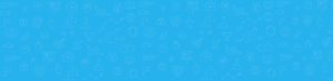 Bandeau bleu avec icones.