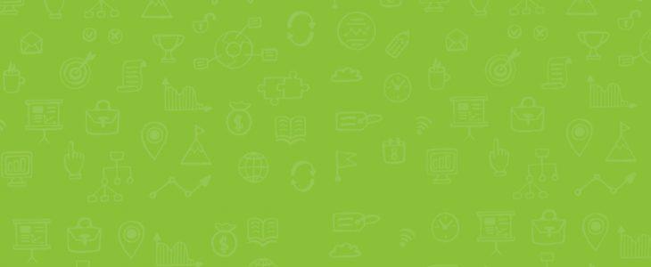 Fond d'écran vert avec icones.