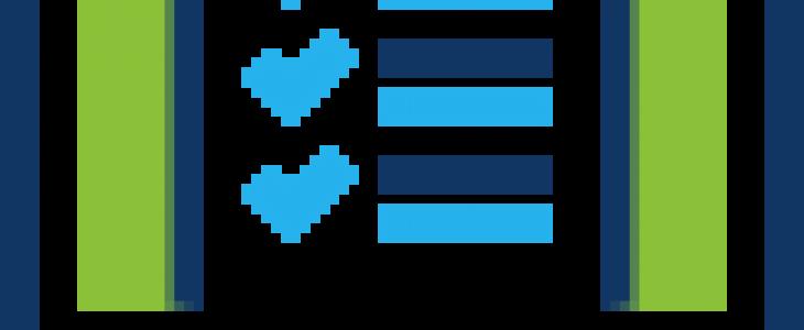 Icone document ouvert sur un écran d'ordinateur.