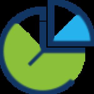 Icone d'une horloge avec 1/5 d'heure détaché.